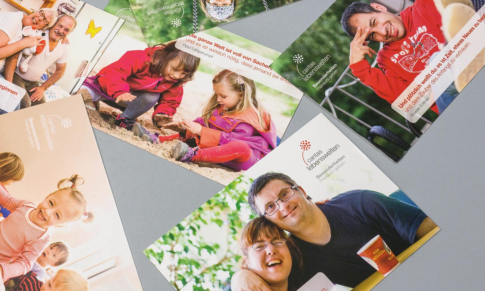Caritas Lebenswelten Postkarten