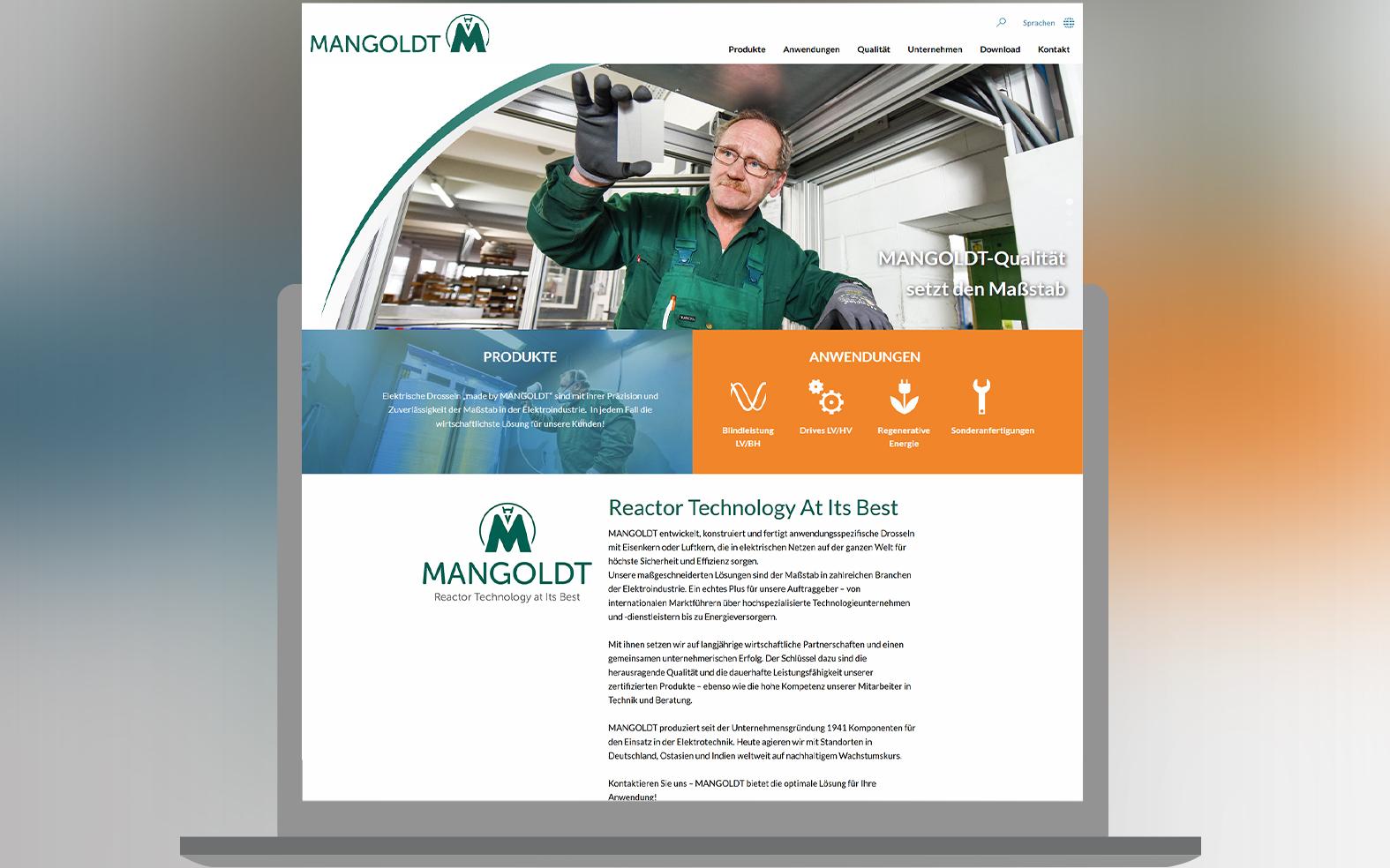 Mangoldt Webseite