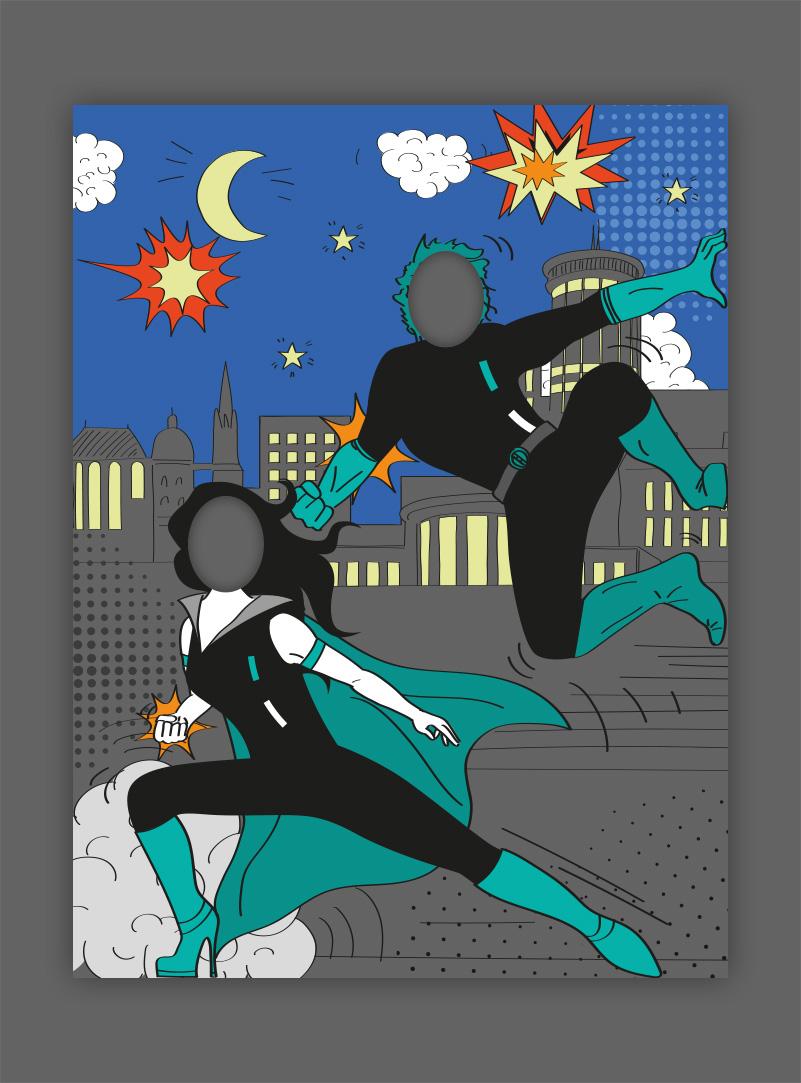 Illustration Superhelden