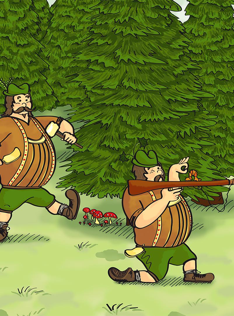 Illustration Peter und der Wolf