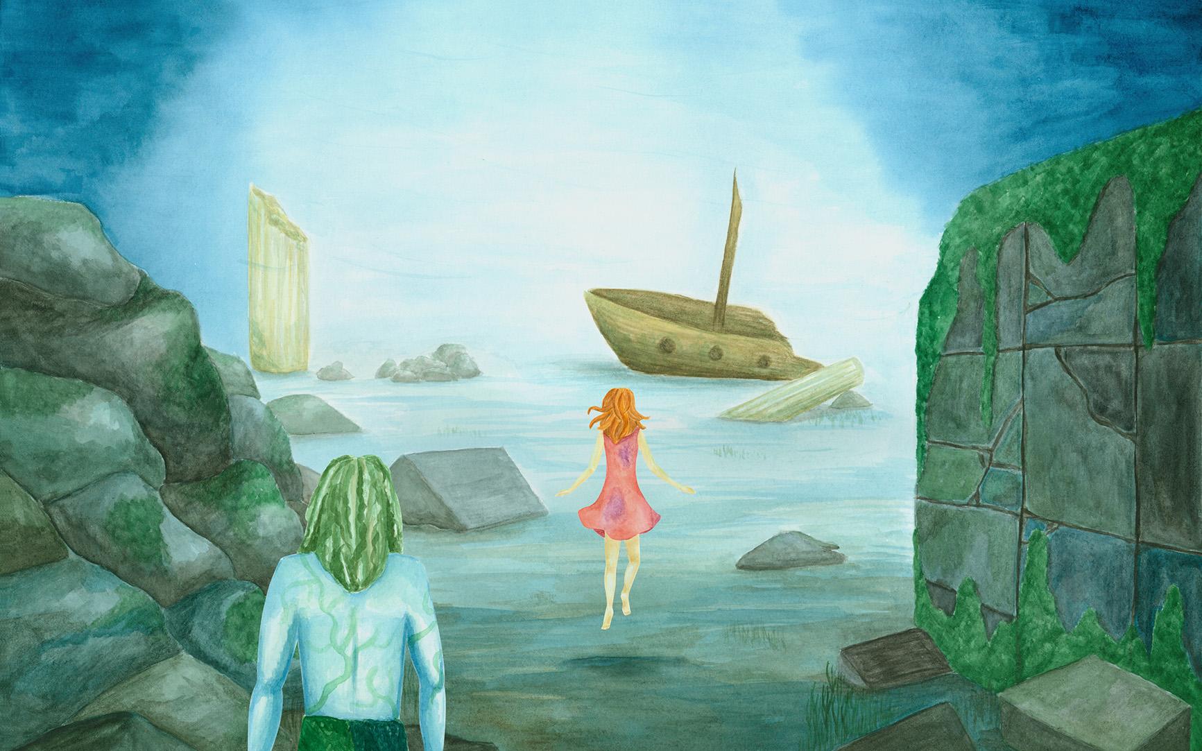 Der Wassermann Unterwasserwelt