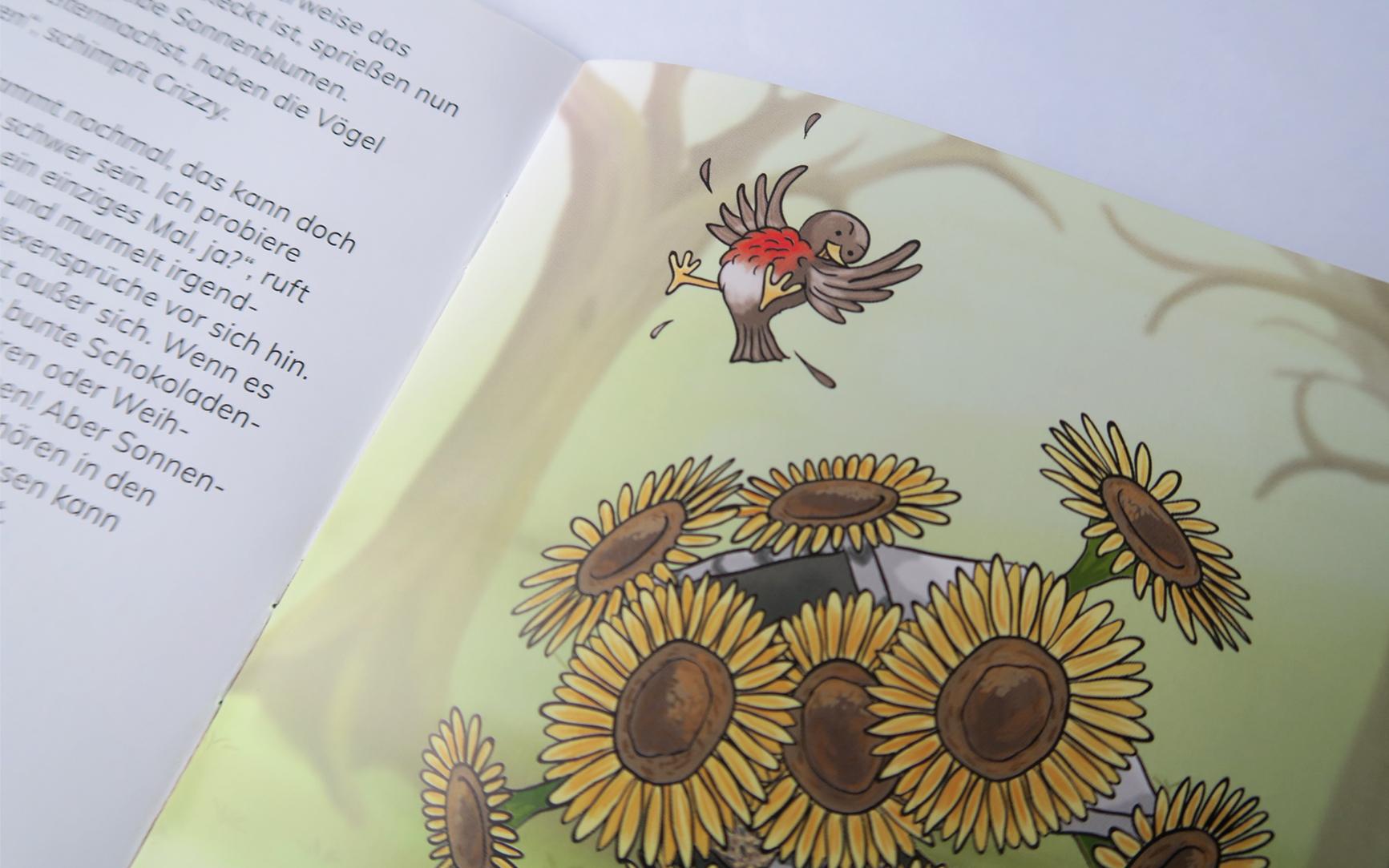 Hexe Kleinlaut Weihnachtsbuch Blumen
